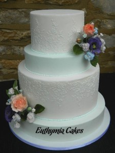 Bespoke Wedding Cakes Modern romantic wedding cake