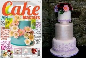 Recognition Awards, Press gallery Cake Masters Magazine May 2015 wedding cake sugar flowers Dream Wedding Cakes
