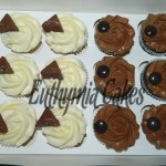 vanilla and chocolate cupcakes toblerone galaxy