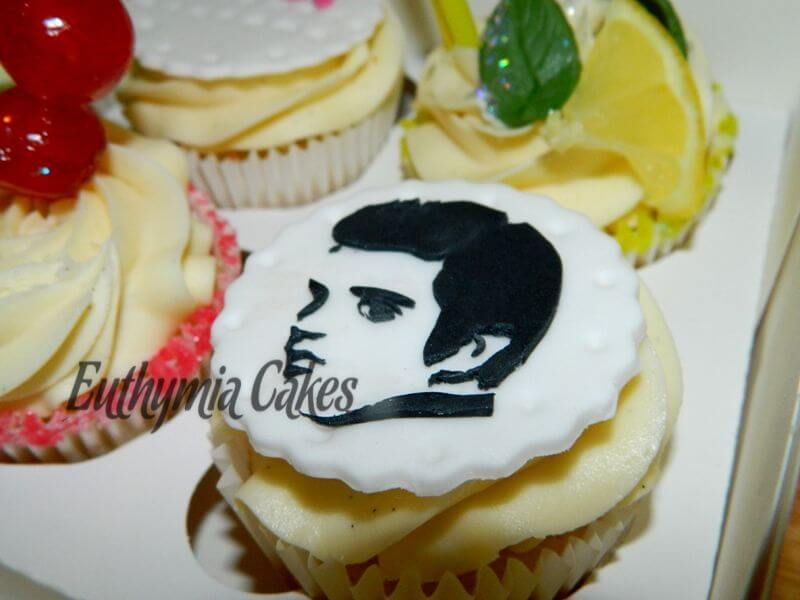 Cake toppers Edible young Elvis Cupcake topper