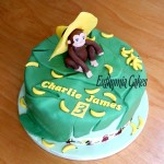 Cake toppers Bespoke Designer Celebration Cakes Jungle cake with edible monkey