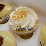 dairy and egg free cupcakes carrot and vanilla fluffy frosting walnut