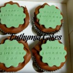 birthday cupcakes chocolate belgian butter cream green