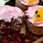 hot wine cupcakes spiced spicy orange pink