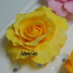 Cake toppers Gum paste Yellow Rose