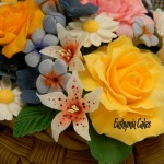 Cake toppers Gum paste flower bouquet