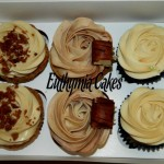 apple crumble bailey's kinder bueno cupcakes