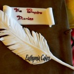 Cake toppers The Vampire Diaries feather book cake