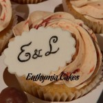 Cake toppers Wedding cupcake customised name topper