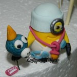 Cake toppers Edible baby minion cake cupcake topper