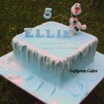 Frozen themed cake olaf the snowman