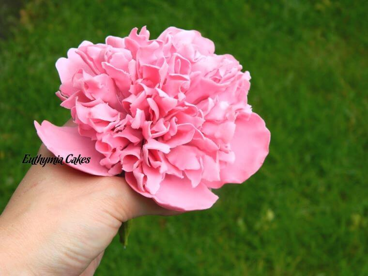 Cake toppers Gum paste Pink Peony