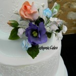 Cake toppers Sugar flowers lisianthus roses sweet peas wedding cake royal icing bridal white