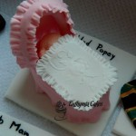 Cake toppers Edible Cradle with Baby Cupcake topper