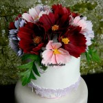 Cake toppers Gum paste Cosmos
