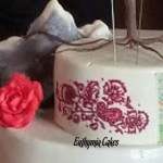 Cake toppers Bespoke Designer Celebration Cakes Sugar English Rose henna tattoo on a cake himalayas