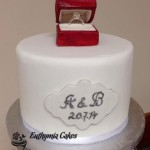 Cake toppers Bespoke Designer Celebration Cakes milton keynes Engagement cake with edible ring box