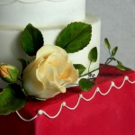 Cake toppers Sugar flowers Ivory Rose Bud