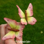 Cake toppers Sugar gum paste wired butterflies, wedding cake decorations, birthday cake decorations, cute cake toppers