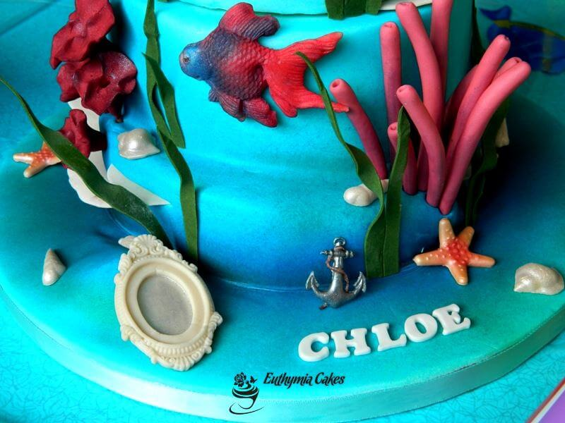 Cake toppers Under the sea themed cake