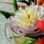 Cake toppers sugar flower Bowl of Beauty