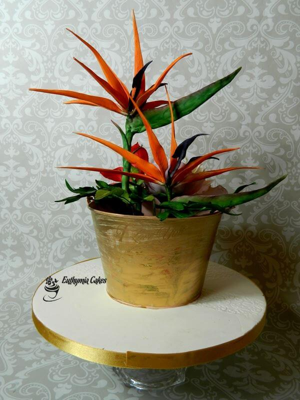 Cake toppers sugar bird of paradise