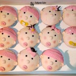 personalised New baby vanilla cupcakes