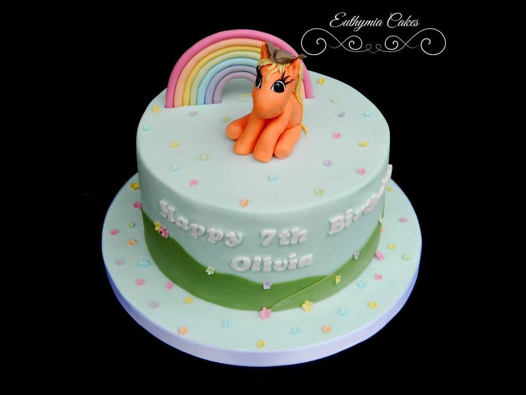 Dscn9575personalised My Little Pony 7th Birthday Cake With Handmade