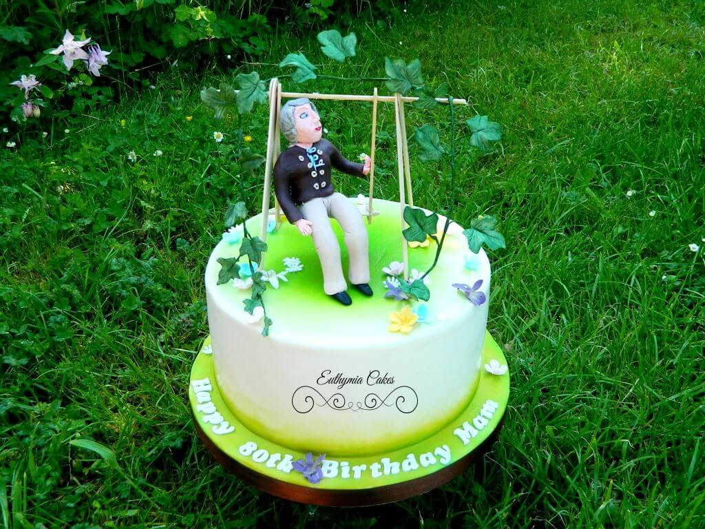 Amazing 80Th Birthday Cake For Lady That Loves Flowers Euthymia Cakes Funny Birthday Cards Online Aboleapandamsfinfo