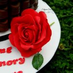 Cake toppers red sugar rose