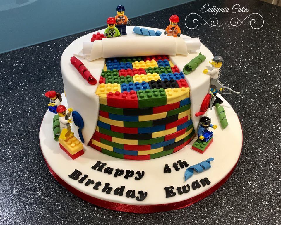 Hanslope Pre-school Christmas Fair Bespoke Designer Celebration Cakes Lego Building Site 4th birthday cake