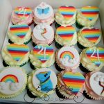 Personalised Special Occasion Cupcakes My little pony cupcakes rainbow hearts clouds