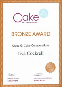 Recognition Cake International 2016 Bronze Award