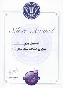 Recognition The Great Hospitality Show 2017 Silver Award two tier wedding cake