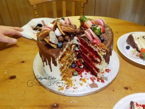 Mixed flavours 30th birthday cake