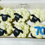 Sheep cupcakes 70th birthday