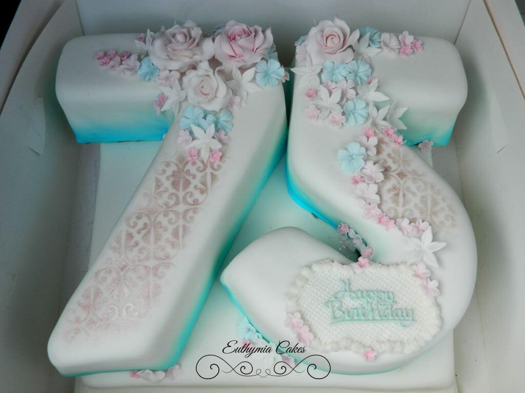 Prime 75Th Birthday Cake With Sugar Flowers Euthymia Cakes Wedding Funny Birthday Cards Online Bapapcheapnameinfo