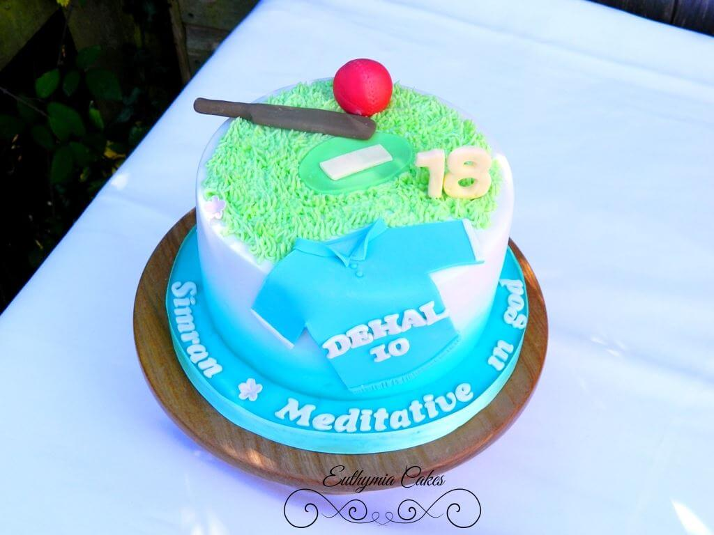 Cricket Themed 16th Birthday Cake