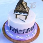 Music Piano and Flute brithday cake edible cake toppers