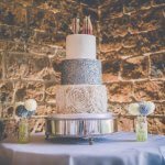 wedding cakes with sequins and ruffles picture by 1st class wedding photography james stenlake