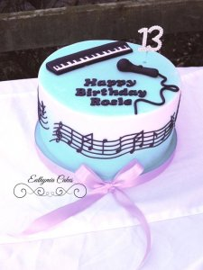 Celebration cakes music inspired birthday cake
