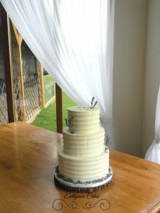 Wedding Cakes Euthymia butter cream cake with lavender