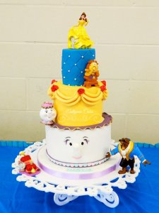 Celebration Cakes Beauty and the Beast themed birthday cake Milton Keynes best chocolate cake