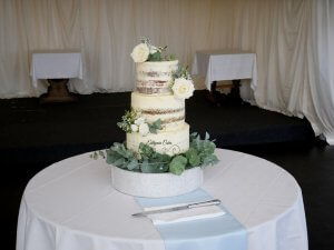 Semi Naked Wedding Cakes with fresh flowers Milton Keynes, Plum Park Hotel, Northampton, Towcester