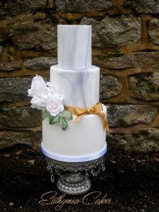 Luxury Wedding Cake with marble effectMilton Keynes