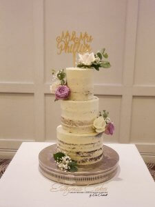 Luxury Semi Naked Wedding Cakes Northampton