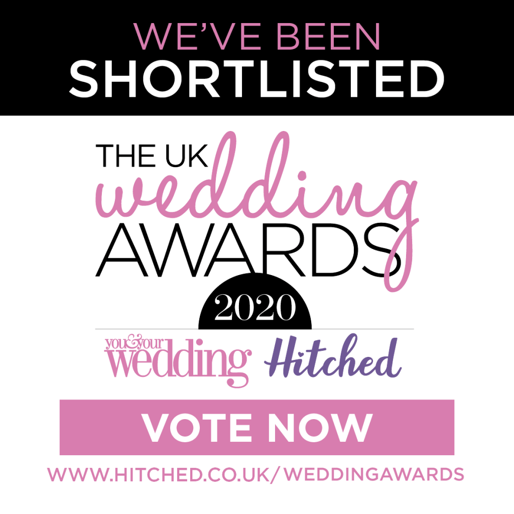 We've been shortlisted for the uk wedding awards 2020. vote now