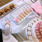 White and Pink Wedding Dessert Tables