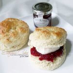Dessert table Scones with British Strawberry Jam and Clotted Cream