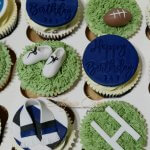 Bath Rugby inspired birthday cupcakes